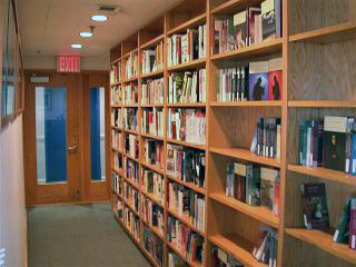 Gallery of publications in the inner hall of the entryway to the firm's offices - after